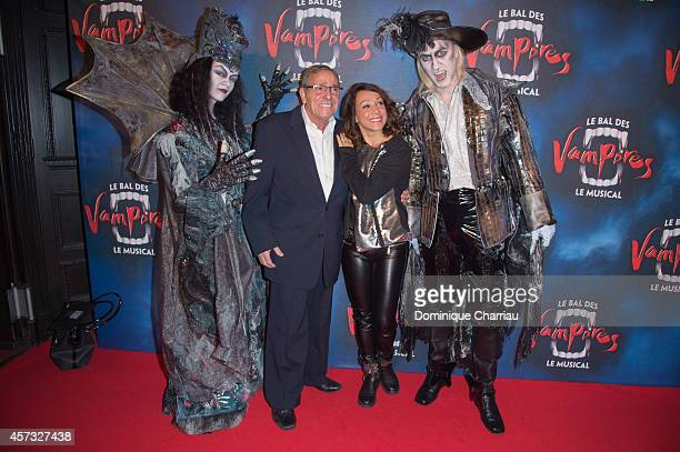 Sarah Abitbol and her father attend the 'Le Bal Des Vampires' Premiere at Theatre Mogador on October 16 2014 in Paris France