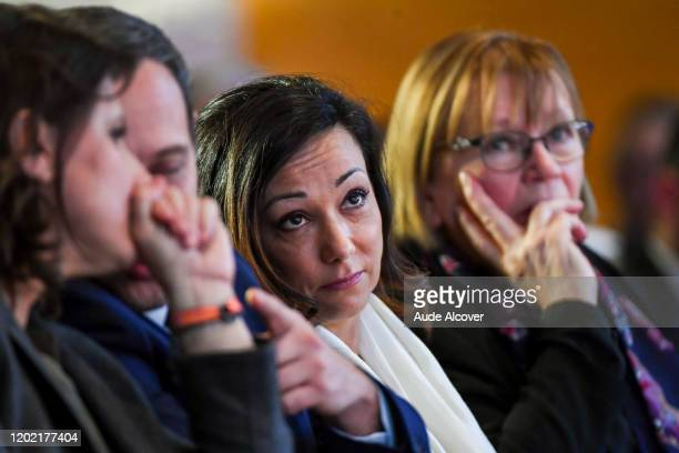 Sarah ABITBOL and MarieGeorge BUFFET during the National Convention Prevention for Sexual Violences in Sports at CNOSF on February 21 2020 in Paris...