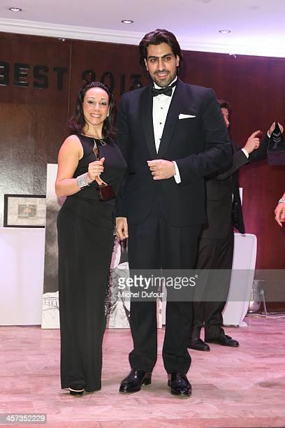 Sarah Abitbol and SAR Salman Abdulaziz Bin Al Saud attend the Best Awards 2013 Ceremony At Hoche Salons In Paris on December 16 2013 in Paris France