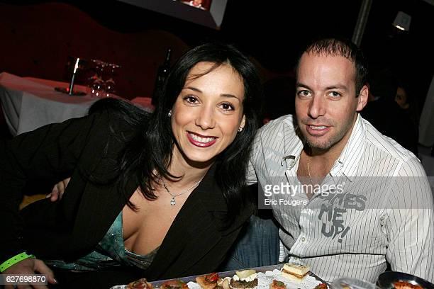 Sarah Abitbol and Stephane Bernadis at the VIP Club in Paris