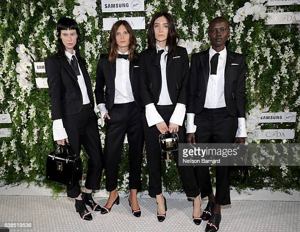 Sarah Abney Drake Burnette Janice Alida and Grace Bol arrive at the official 2016 CFDA Fashion Awards after party hosted by Samsung 837 in NYC on...