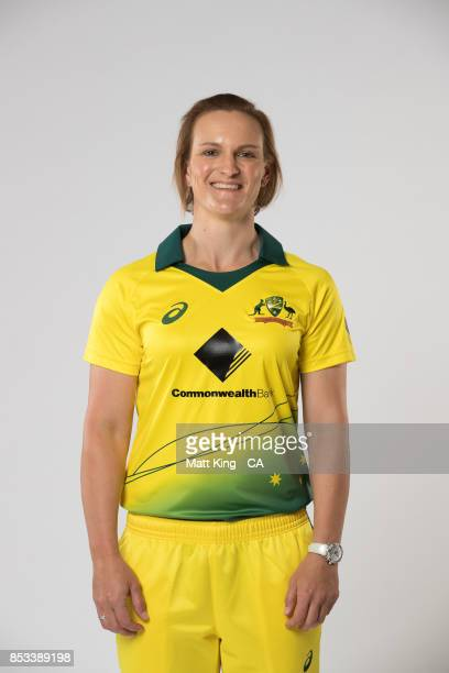 Sarah Aley poses during a Cricket Australia Women's Player Camp at the Centre For Excellence on September 18 2017 in Brisbane Australia