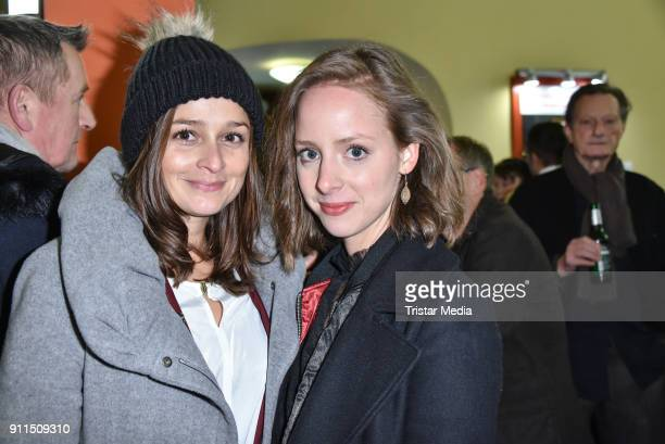 Sarah Alles and Amelie PlaasLink during the 60 anniversary of Ernst Lubitsch Award on January 28 2018 in Berlin Germany