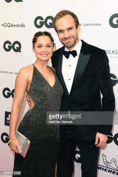Sarah Alles and husband Thimon von Berlepsch arrive for the 20th GQ Men of the Year Award at Komische Oper on November 8 2018 in Berlin Germany