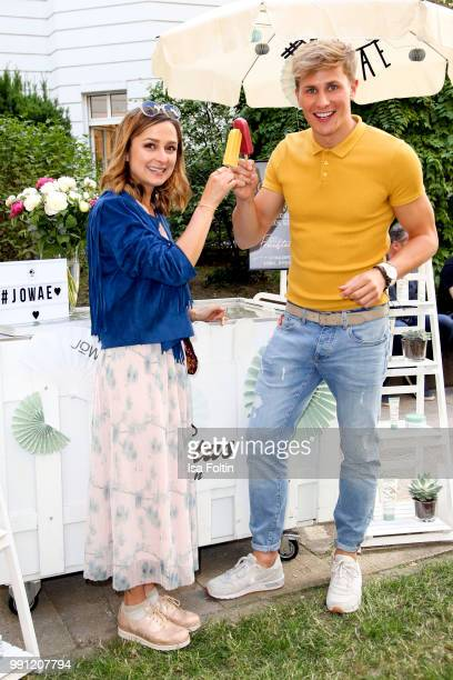 Sarah Alles and Lukas Sauer during the Klambt Style Cocktail at HENRI Hotel on July 3 2018 in Berlin Germany