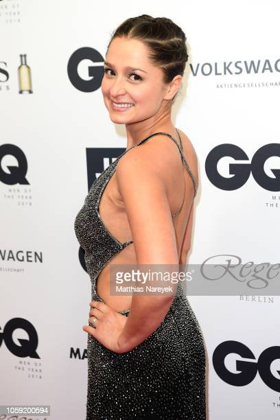 Sarah Alles arrives for the 20th GQ Men of the Year Award at Komische Oper on November 8 2018 in Berlin Germany