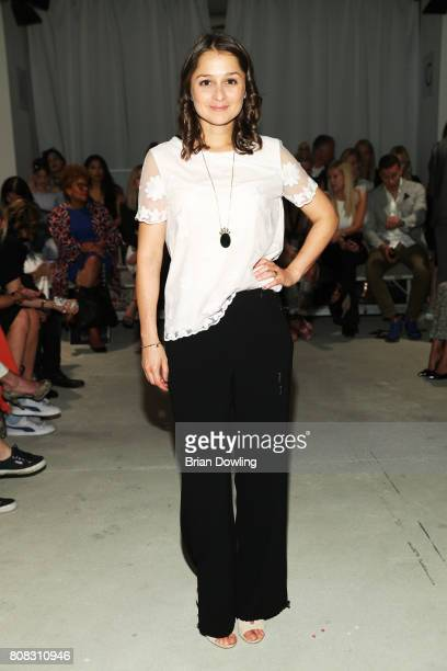 Sarah Alles attends the Laurel show during the MercedesBenz Fashion Week Berlin Spring/Summer 2018 at Kaufhaus Jandorf on July 4 2017 in Berlin...