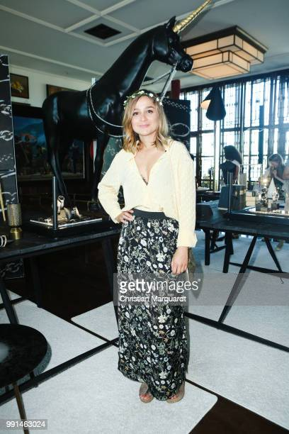 Sarah Alles attends the Thomas Sabo Press Cocktail at China Club Berlin on July 4 2018 in Berlin Germany
