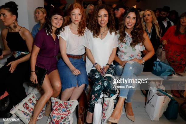 Sarah Alles Marleen Lohse Anastasia Zampounidis and Alexandra Polzin attend the Lena Hoschek show during the MercedesBenz Fashion Week Berlin...