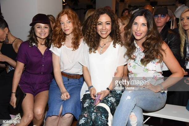 Sarah Alles, Marleen Lohse, Anastasia Zampounidis and Alexandra Polzin attend the Lena Hoschek show during the Mercedes-Benz Fashion Week Berlin...