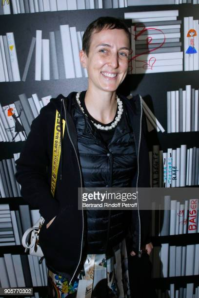 Sarah Andelman of Colette attends the Manifesto Sonia Rykiel 5Oth Birthday Party at the Flagship Store Boulevard Saint Germain des Pres on January 16...