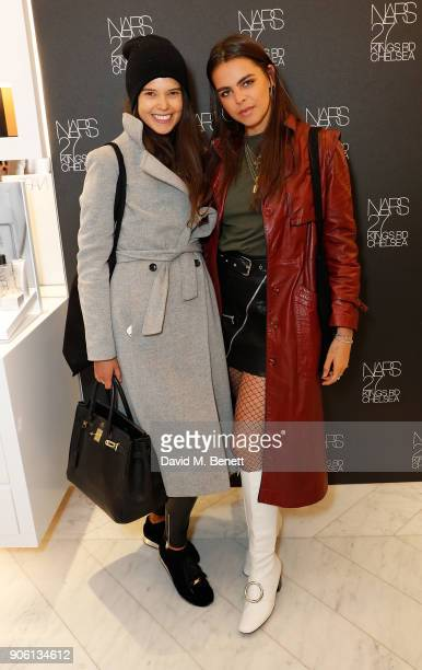 Sarah Ann Macklin and Bee Beardsworth attend the NARS Kings Road Opening Party on January 17 2018 in London United Kingdom