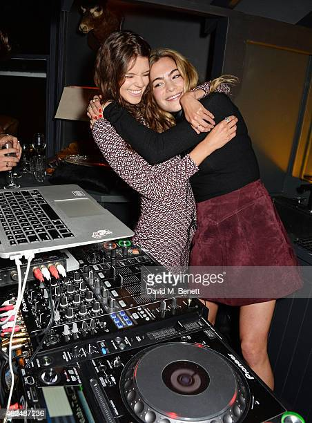 Sarah Ann Macklin and Chelsea Leyland attend the launch of new restaurant West Thirty Six on January 29 2015 in London England