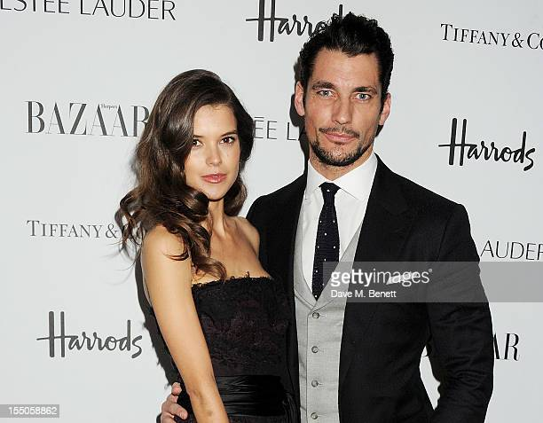 Sarah Ann Macklin and David Gandy attend the Harper's Bazaar Women of the Year Awards 2012 in association with Estee Lauder Harrods and Tiffany Co at...