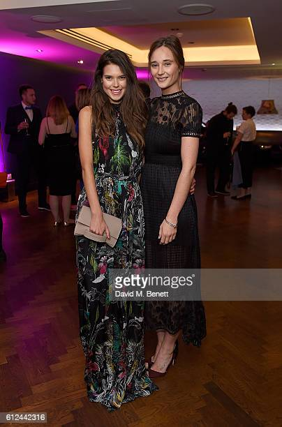 Sarah Ann Macklin and Erin Fee attend the annual hClub 100 Awards the event that champions the best in UK talent within the creative industries at...