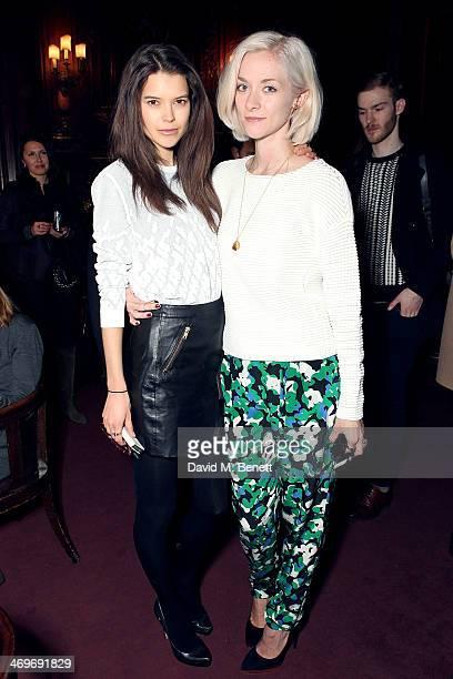 Sarah Ann Macklin and Portia Freeman attend the Pringle of Scotland Autumn/Winter presentation at The Savile Club on February 16 2014 in London...