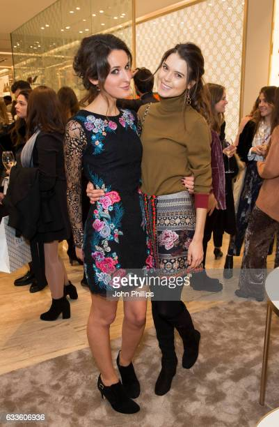 Sarah Ann Macklin and Rosanna Falconer attendÊa VIP party to celebrate the opening of luxury Italian brand Furla's Brompton Road Flagship store in...