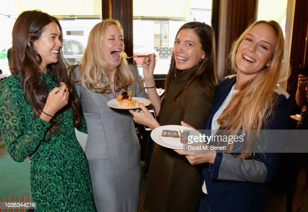 Sarah Ann Macklin Astrid Harbord Amanda Sheppard and Hum Fleming attend the World's Biggest Coffee Morning hosted by Elizabeth Hurley in support of...