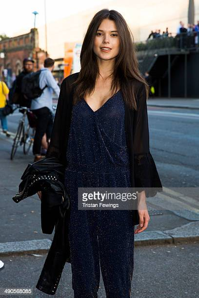Sarah Ann Macklin attends a photocall to launch the David Beckham for HM Swimwear collection on May 14 2014 in London England