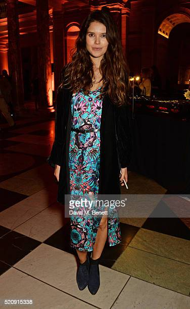 Sarah Ann Macklin attends a private view of new exhibition 'Undressed A Brief History Of Underwear' at The VA on April 13 2016 in London England