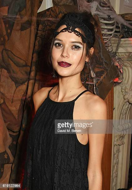 Sarah Ann Macklin attends Halloween at Annabel's at 46 Berkeley Square on October 29 2016 in London England