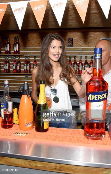 Sarah Ann Macklin attends the Aperol Spritz Social on July 13 2017 in London England