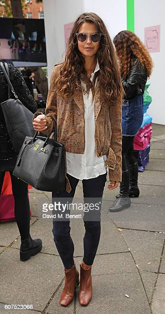 Sarah Ann Macklin attends the Malone Souliers London Fashion Week SS17 Presentation on September 18 2016 in London England