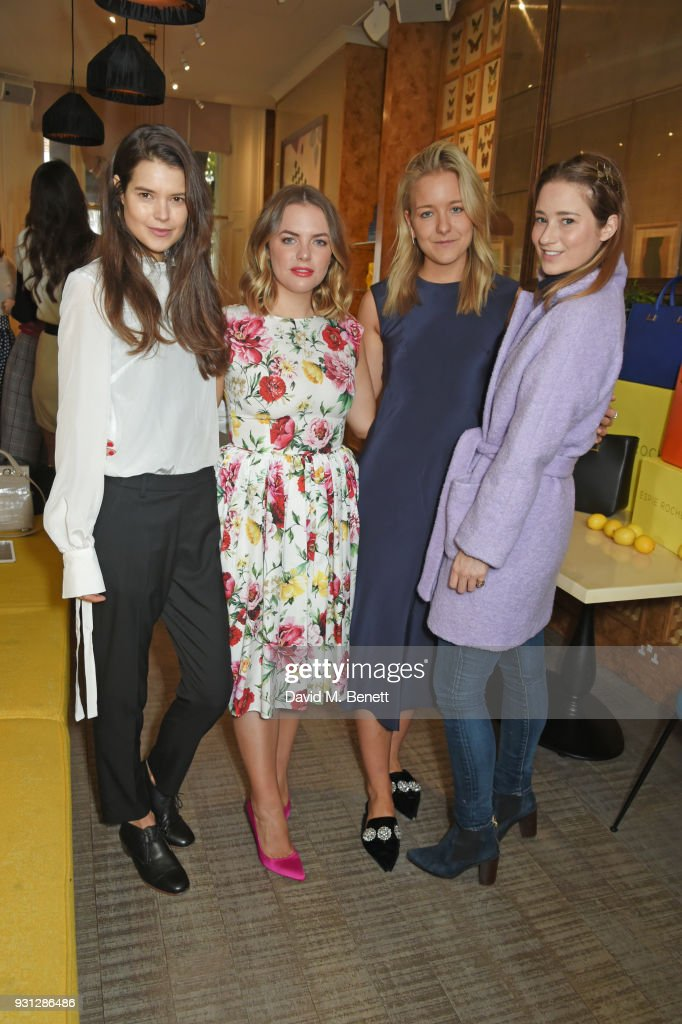 Sarah Ann Macklin, Espie Roche co-founders Alexandra Roche-Hamilton and Hermione Espie Underwood, and Kelly Eastwood attend the Espie Roche launch breakfast at The Chess Club on March 13, 2018 in London, England.