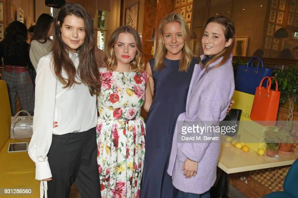 Sarah Ann Macklin Espie Roche cofounders Alexandra RocheHamilton and Hermione Espie Underwood and Kelly Eastwood attend the Espie Roche launch...