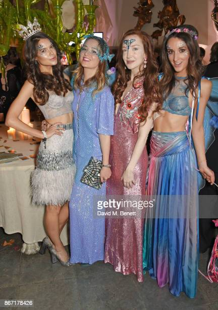 Sarah Ann Macklin Kelly Eastwood Olivia Grant and Rosanna Falconer attend Unicef's Halloween at Aynhoe Park on October 27 2017 in Banbury England...