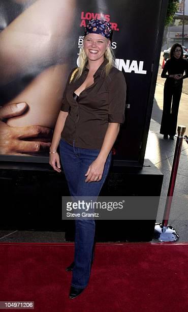 Sarah Ann Morris during Original Sin Los Angeles Premiere at DGA Theater in Los Angeles California United States