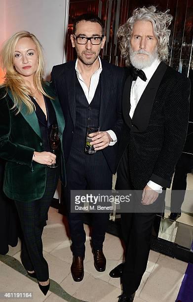 Sarah Ann Murray Alessandro Sartori and Aiden Shaw attend The Rake Magazine And Claridge's Celebration of London Collections Men at Claridge's Hotel...
