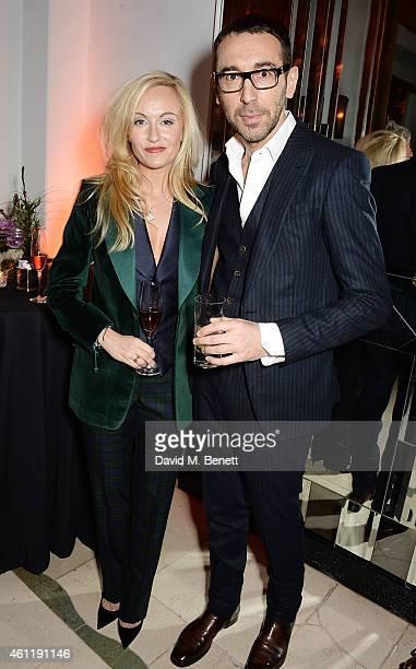 Sarah Ann Murray and Alessandro Sartori attend The Rake Magazine And Claridge's Celebration of London Collections Men at Claridge's Hotel on January...