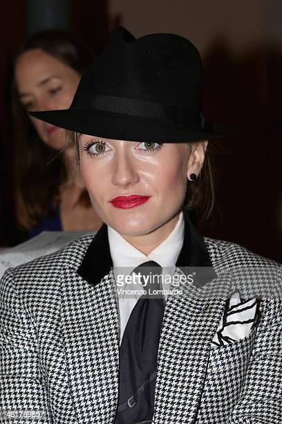 Sarah Ann Murray attends the Corneliani show as a part of Milan Fashion Week Menswear Autumn/Winter 2014 on January 11 2014 in Milan Italy