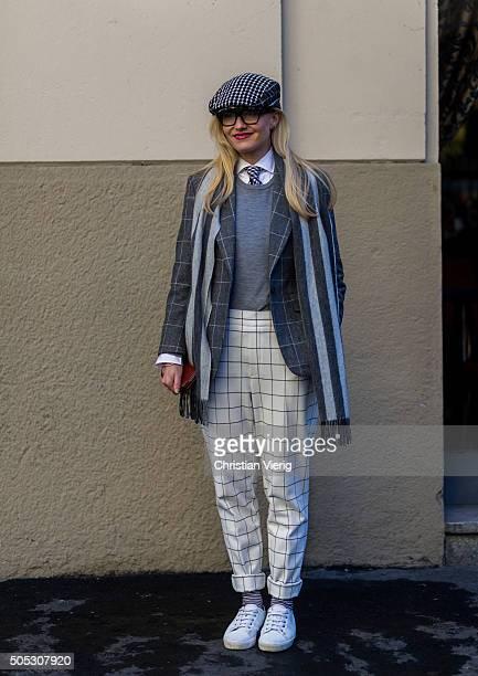 Sarah Ann Murray during Milan Men's Fashion Week Fall/Winter 2016/17 on January 16 in Milam Italy