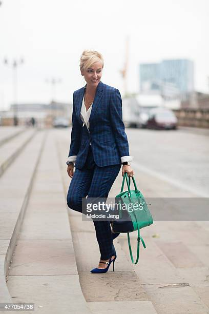 Sarah Ann Murray of The Rake wears a bespoke suit during The London Collections Men SS16 at on June 13 2015 in London England