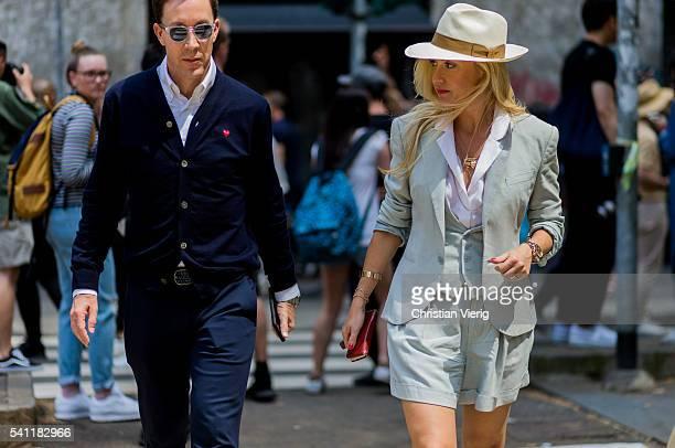 Sarah Ann Murray outside Dolce Gabbana during the Milan Men's Fashion Week Spring/Summer 2017 on June 18 2016 in Milan Italy