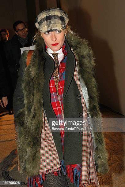 Sarah Ann Murray The Rake's Group Fashion Editor attends the Saint Laurent Men Autumn / Winter 2013 show at Grand Palais as part of Paris Fashion...