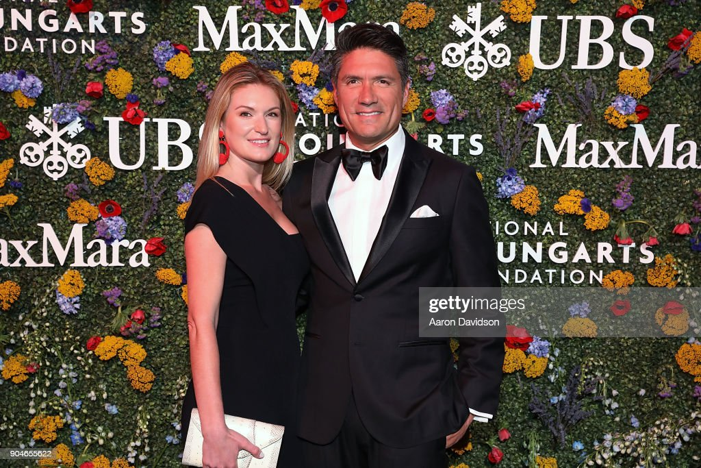 Sarah Arison and Louis Aguirre attend National YoungArts Foundation Backyard Ball Performance and Gala 2018 on January 13, 2018 in Miami, Florida.