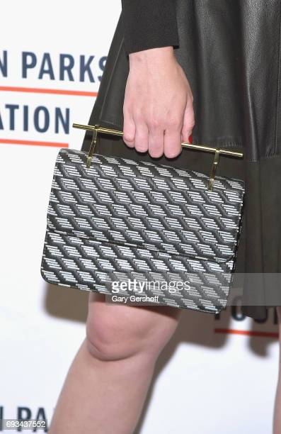Sarah Arison bag detail attends the 2017 Gordon Parks Foundation Awards gala at Cipriani 42nd Street on June 6 2017 in New York City