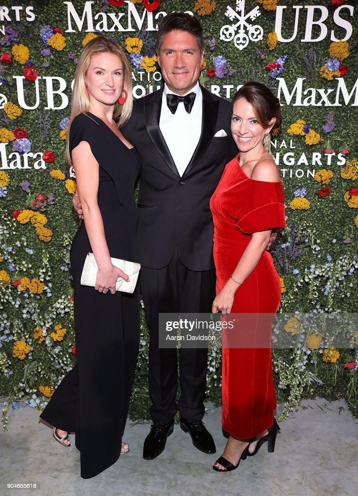 Sarah Arison, Louis Aguirre, and Carolina Garcia Jayaram attend National YoungArts Foundation Backyard Ball Performance and Gala 2018 on January 13, 2018 in Miami, Florida.