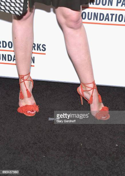 Sarah Arison shoe detail attends the 2017 Gordon Parks Foundation Awards gala at Cipriani 42nd Street on June 6 2017 in New York City