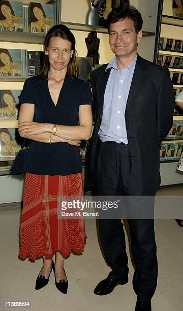 Sarah ArmstrongJones and Daniel Chatto attend a private viewing of Modigliani And His Models at the Royal Academy Of Arts on July 4 2006 London...