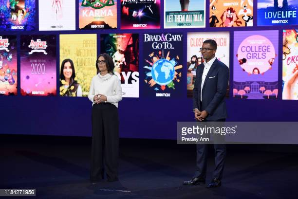 Sarah Aubrey Head of Original Content of HBO Max and Michael Quigley Executive Vice President Acquisitions and Strategy of HBO Max speak onstage at...