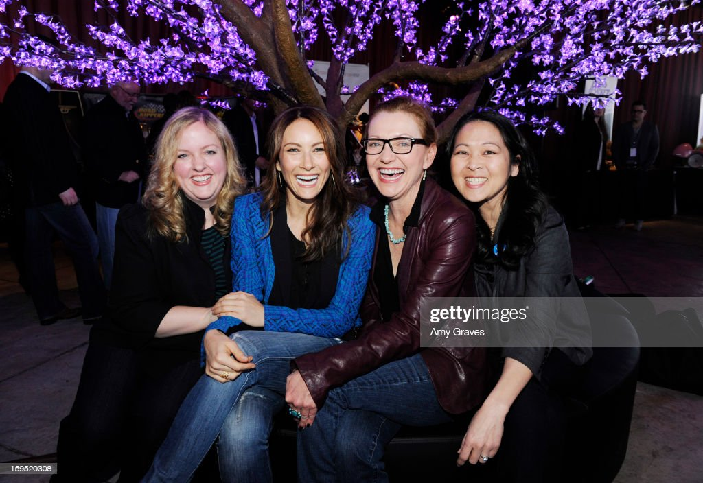 Sarah Baker, Laura Benanti, Julie White and Suzy Nakamura attend GBK's Luxury Lounge during Golden Globe weekend day 2 at L'Ermitage Beverly Hills Hotel on January 12, 2013 in Beverly Hills, California.