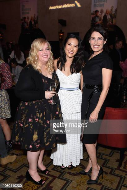 Sarah Baker Melissa Tang and Lisa Edelstein attend the after party for the Gala Screening of The Kominsky Method at AFI FEST 2018 Presented By Audi...
