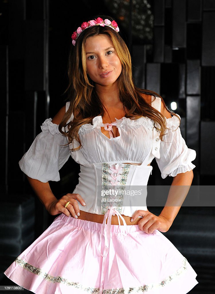 Sarah Balint seen wearing Bridget Marquardtu0027s u0027Bridget By Romau0027 Halloween Costume at MyStudio on  sc 1 st  Getty Images & Bridget Marquardtu0027s