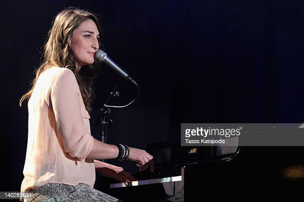 Sarah Bareilles performs during Escape To Total Rewards at Union Station on March 1 2012 in Chicago Illinois