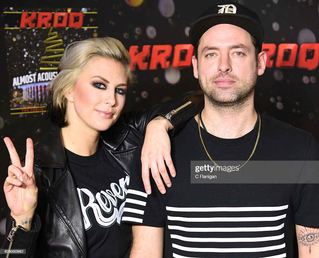 Sarah Barthel and Josh Carter of Phantogram attend the 2016 KROQ Almost Acoustic Christmas at The Forum on December 11, 2016 in Inglewood, California.
