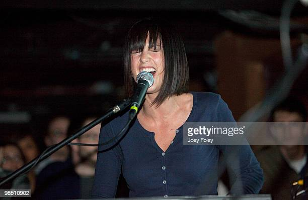 Sarah Barthel of Phantogram performs at The Basement on April 16 2010 in Columbus Ohio